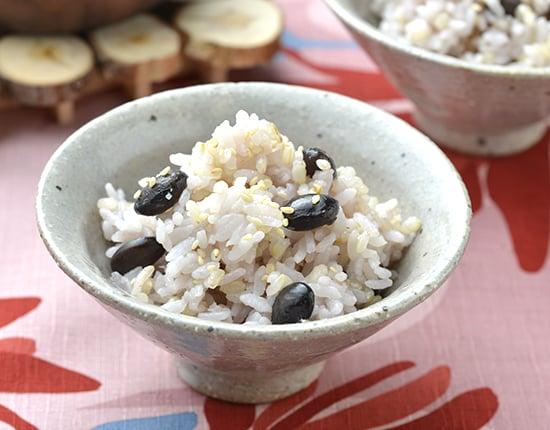黒大豆入り玄米ご飯