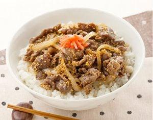 真誠ごまレシピ 牛丼