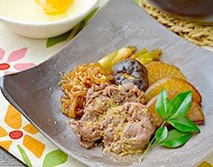 真誠ごまレシピ牛肉と大根のすき煮
