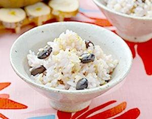 真誠ごまレシピ黒大豆入り玄米ご飯
