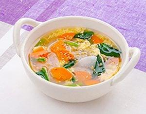 真誠ごまレシピ野菜かき玉スープ