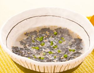 真誠ごまレシピ韓国風のりスープ