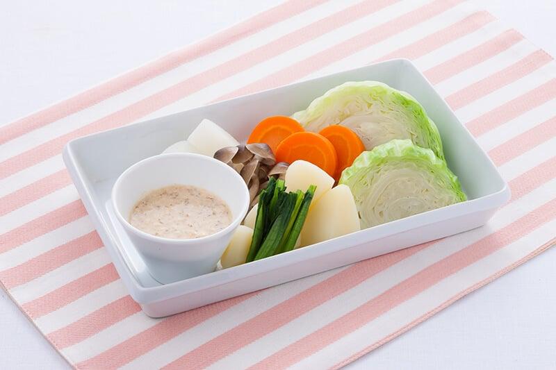 真誠ごまレシピ蒸し野菜のクリーミーゆずディップ